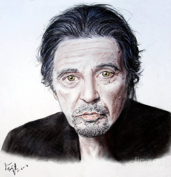 Wall Art - Drawing - Actor And Director Al Pacino  by Jim Fitzpatrick