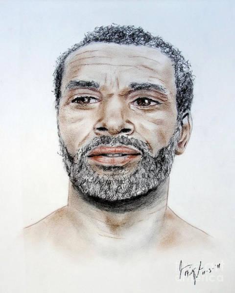 Wall Art - Pastel - Actor Moses Gunn  by Jim Fitzpatrick