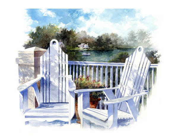 Painting - Adirondack Chairs Too by Andrew King