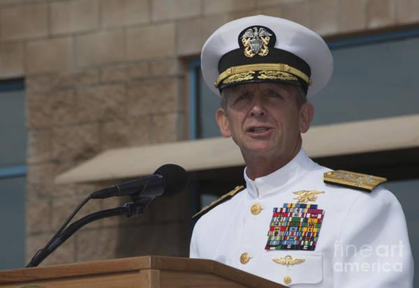Public Speaker Photograph - Admiral Eric Olson Speaks by Michael Wood