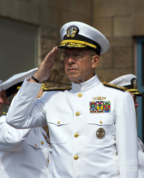 Medal Of Honor Photograph - Admiral Michael Mullen Salutes by Michael Wood