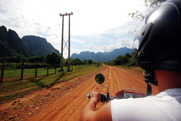 Shoulder Photograph - Adventure Motorbike Trip In Laos by Thepurpledoor