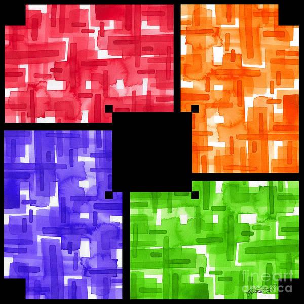 Mixed Media - Aerial Color Plots by Kristen Fox