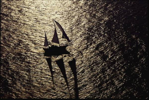 Hilton Head Island Photograph - Aerial View Of A Sailing Vessel At Sea by Kenneth Garrett