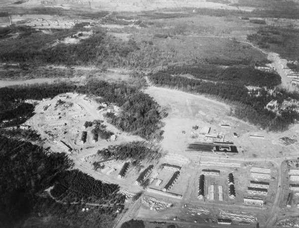 Works Progress Administration Photograph - Aerial View Of Greenbelt, Maryland by Everett