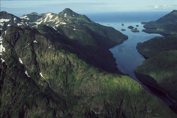 Gulf Of Alaska Photograph - Aerial View Of The Alaskan Shores by Karen Kasmauski
