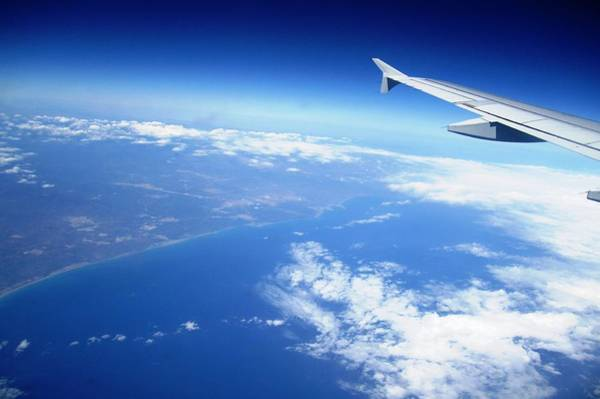 Photograph - Aerial View Vi Airplane Flying Over Valencia In Spain Headed East Towards The Mediterranean Sea by John Shiron