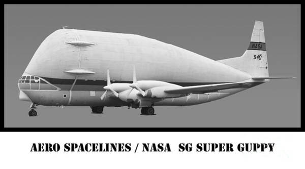 Wall Art - Photograph - Aero Spacelines Super Guppy Bw by Tim Mulina