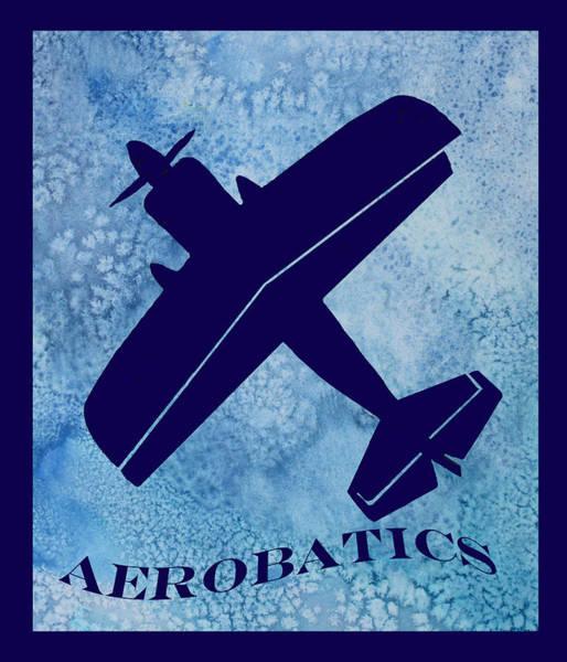 Prop Digital Art - Aerobatics by Jenny Armitage