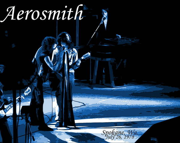 Photograph - Aerosmith In Spokane 12c by Ben Upham