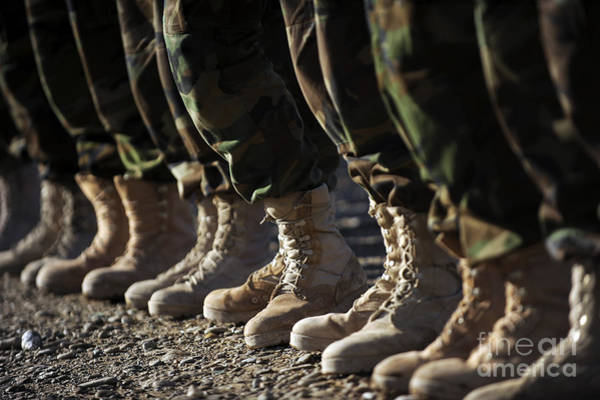 Army Air Corps Photograph - Afghan National Army Air Corp Soldiers by Stocktrek Images