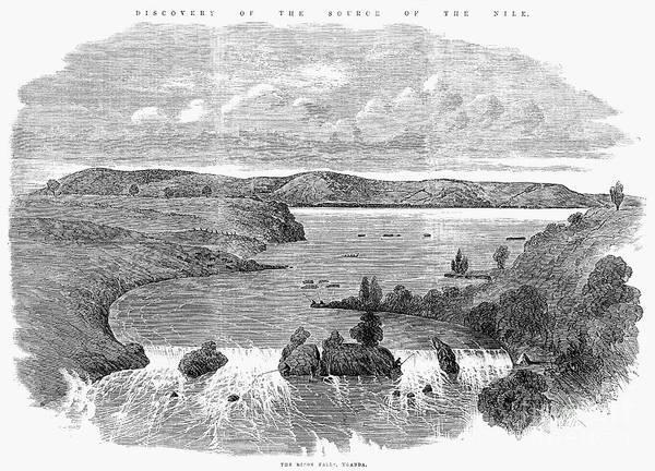 Photograph - Africa: Ripon Falls, 1863 by Granger
