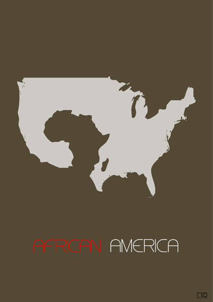 African American Wall Art - Digital Art - African America Poster by Naxart Studio