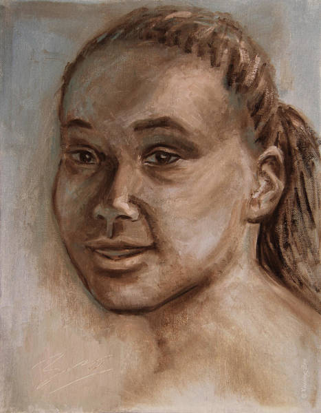Painting - African American 2 by Xueling Zou