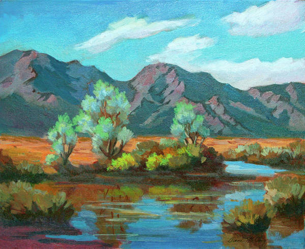 Desert Scene Painting - After The Rain by Diane McClary