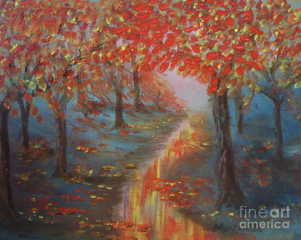 Painting - After The Rain In Autumn by Monika Shepherdson