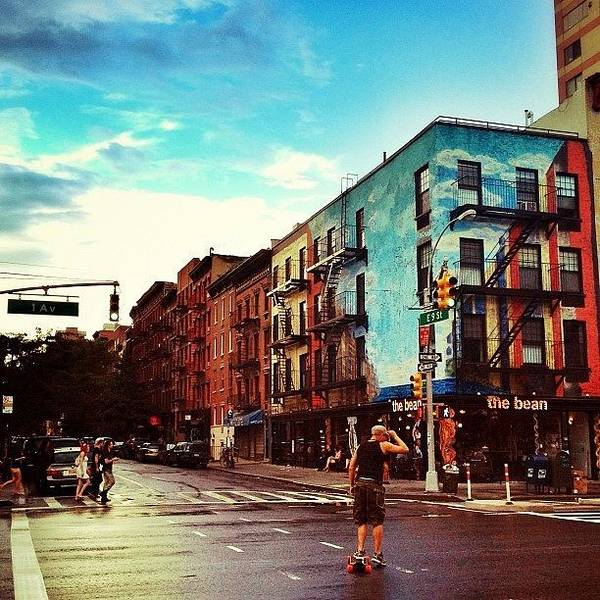 Wall Art - Photograph - After The Rain In The East Village - New York City by Vivienne Gucwa