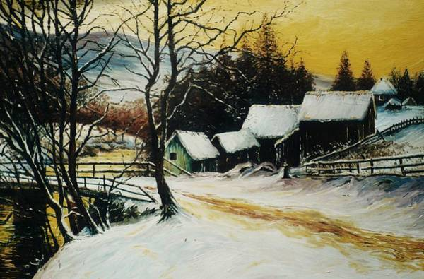 Wall Art - Painting - After The Snow by Andrew Read
