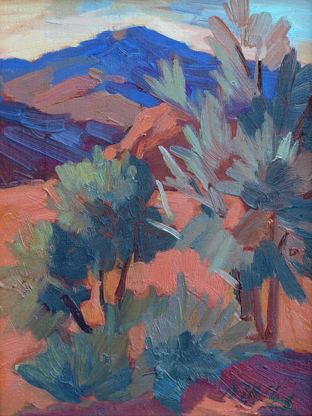 Sierra Nevada Painting - Afternoon Light - Santa Rosa Mountains by Diane McClary