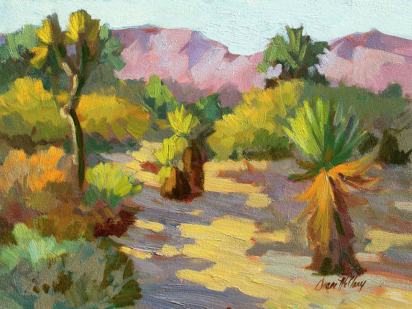 Wall Art - Painting - Afternoon Shadows Living Desert by Diane McClary