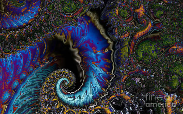 Digital Art - Agitated Fractal by Clayton Bruster