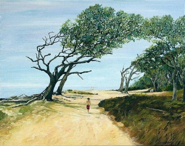 Jekyll Island Painting - Aiden by Leah Holland