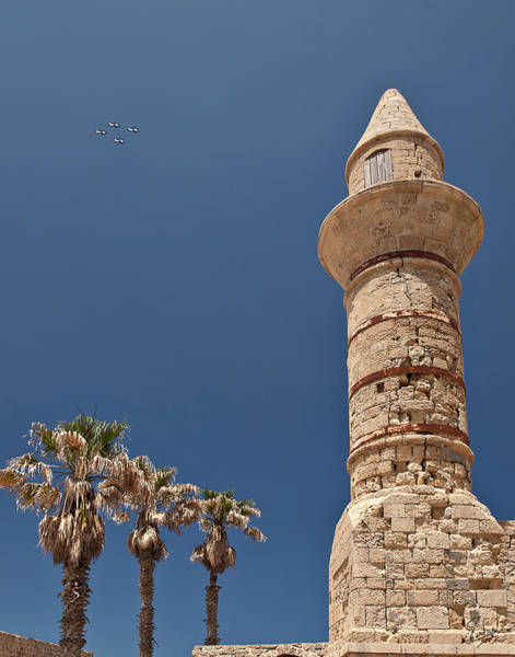 Photograph - Air Force Flyby Of A Caesarea Minaret by Endre Balogh