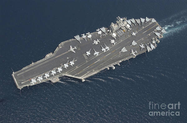 Uss George Washington Wall Art - Photograph - Aircraft Carrier Uss George Washington by Stocktrek Images