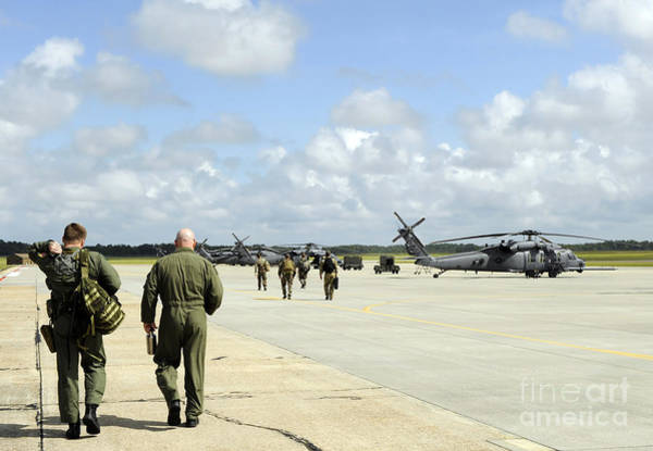 Airbase Photograph - Aircrews Prepare To Depart To Provide by Stocktrek Images