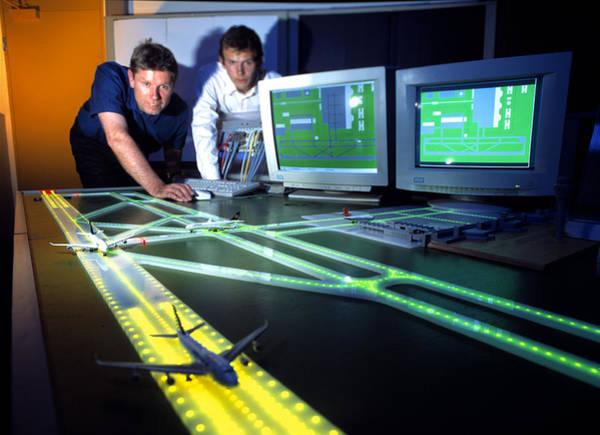 Runway Model Photograph - Airfield Lighting Simulation by Volker Steger