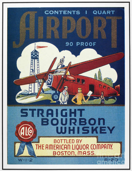 Photograph - Airport Whiskey Label by Granger