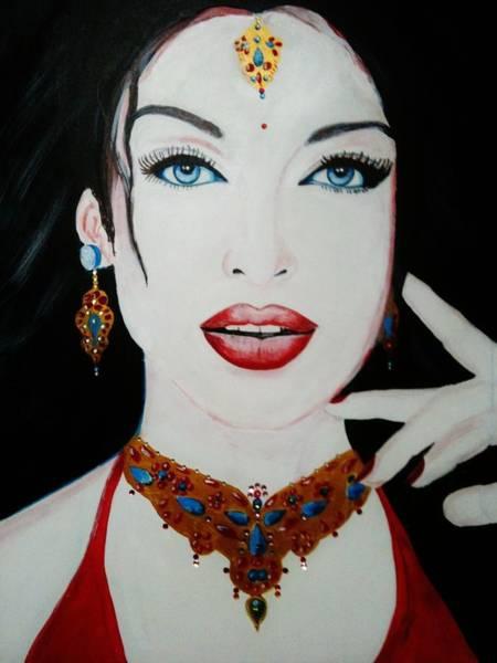 Bollywood Wall Art - Painting - Aishwarya Rai by Vikram Choudhary