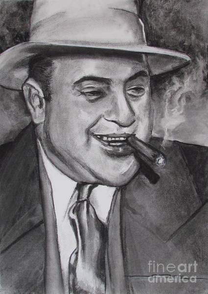 Painting - Al Capone 0g Scarface by Eric Dee