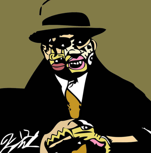 Popstract Digital Art - Al Capone Full Color by Kamoni Khem