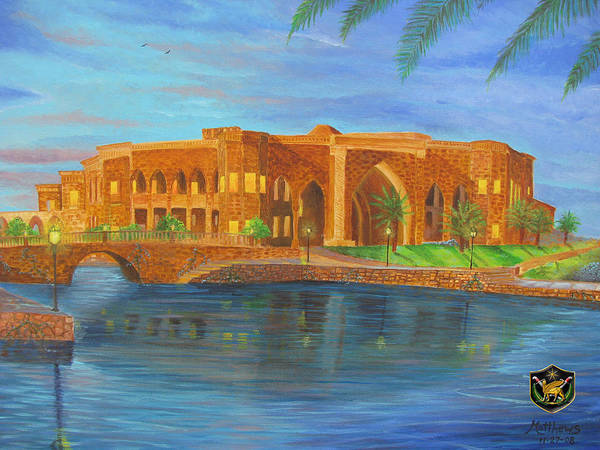 Baghdad Painting - Al Faw Palace by Michael Matthews