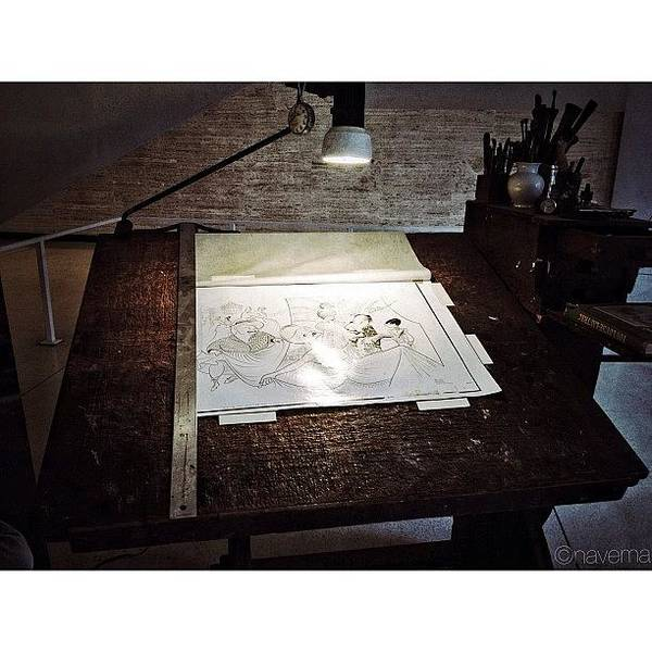 Drawing Wall Art - Photograph - Al Hirschfeld's Drawing Table by Natasha Marco