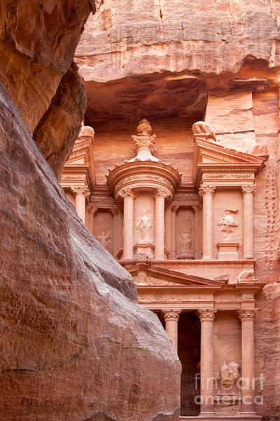 Ancient Architecture Photograph - al-Khazneh by Jane Rix