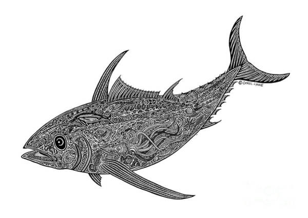 Wall Art - Drawing - Tribal Albacore by Carol Lynne