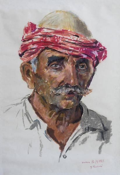 Wall Art - Pastel - Albanian Mountaineer by Ylli Haruni