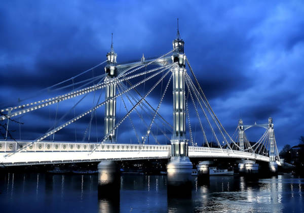 River Thames Photograph - Albert Bridge London by Jasna Buncic