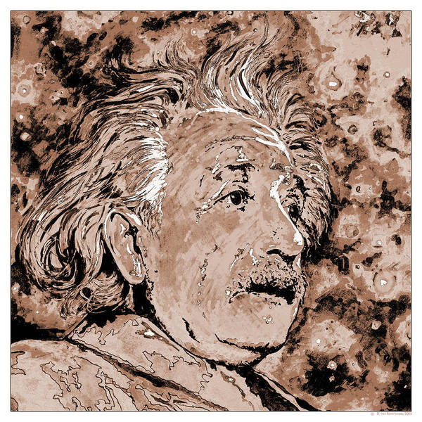 Mass-energy Equivalence Wall Art - Photograph - Albert Einstein by Detlev Van Ravenswaay