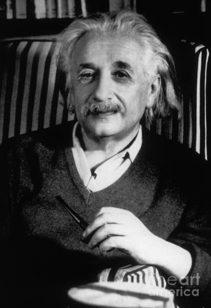 Mass-energy Equivalence Wall Art - Photograph - Albert Einstein, German-american by Science Source