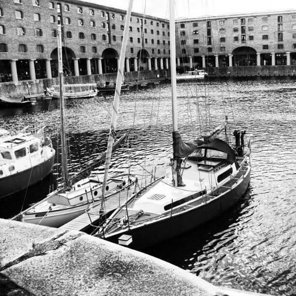 Follow Wall Art - Photograph - #albertdock #liverpool #harbor #boat by Abdelrahman Alawwad