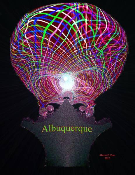 Balloon Festival Digital Art - Albuquerque by Maria Urso