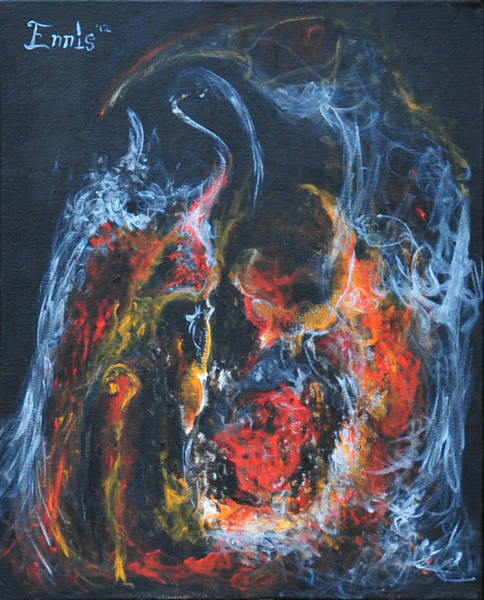 Painting - Alchemical Heart by Christophe Ennis
