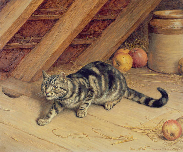 Attic Wall Art - Painting - Alert by Frank Paton