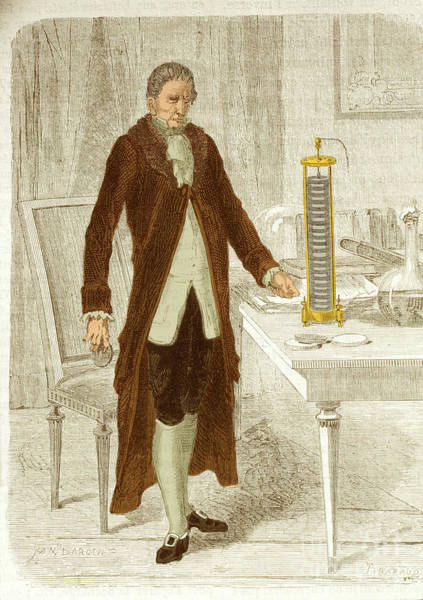 Voltaic Pile Photograph - Alessandro Volta, Italian Physicist by Science Source