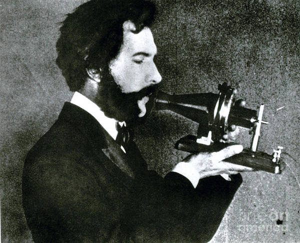 Tele Photograph - Alexander Bell, Scottish-american by Science Source