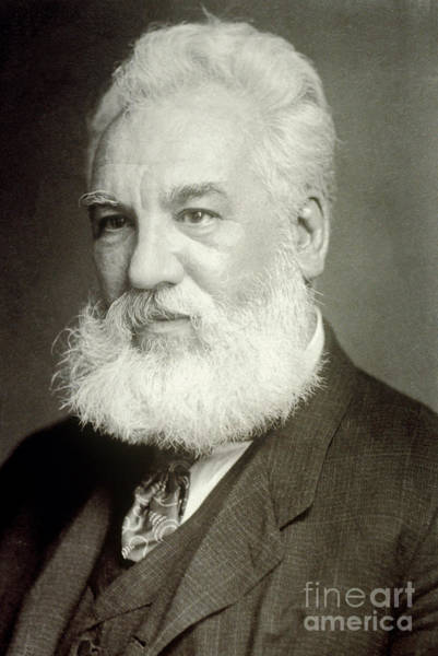 Tele Photograph - Alexander Graham Bell by Photo Researchers