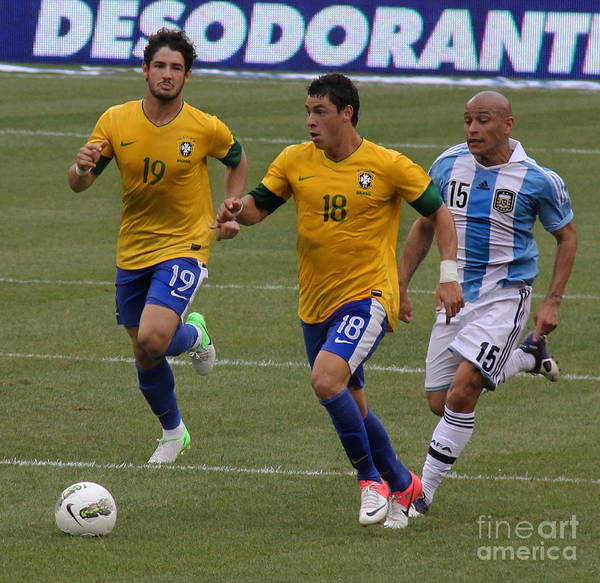 2010 Fifa World Cup Wall Art - Photograph - Alexandre Pato Running by Lee Dos Santos
